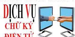 Dịch vụ đăng ký chữ ký điện tử