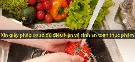 xin giấy phép cơ sở đủ điều kiện vệ sinh an toàn thực phẩm