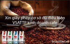 xin giấy phép cơ sở đủ điều kiện VSATTP cafe