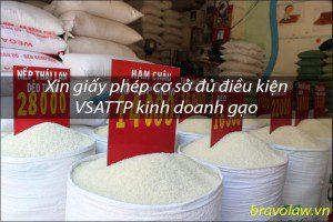 xin giấy phép cơ sở đủ điều kiện VSATTP gạo
