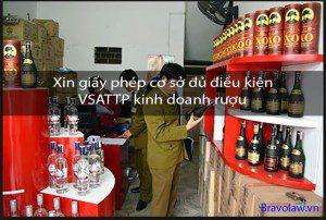 xin giấy phép cơ sở đủ điều kiện VSATTP rượu