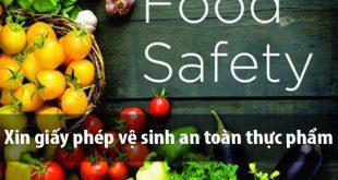 Xin giấy phép vệ sinh an toàn thực phẩm