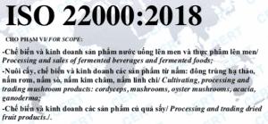CHUNG NHAN ISO 22000 DONG TRUNG HA THAO- NUOC LEN MEN