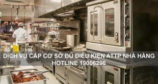 Dịch vụ xin giấy phép cơ sở đủ điều kiện an toàn thực phẩm cho nhà hàng